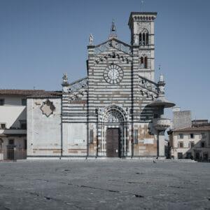 Fotografia del centro storico di Prato durante il lockdown covid19, stampata su canvas con Telaio Fotografo Prato Lorenzo Emme vendita fotografie